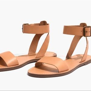 Madewell NWT The Boardwalk Ankle Strap Sandal